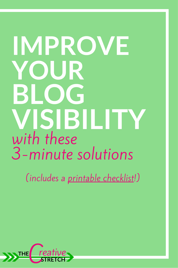 It's the small details that is hurting your blog and driving your audience away. Learn how to keep them glued to your site with these easy, 3-minute solutions! Visit us at thecreativestretch.com!