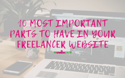 10 Most Important Parts to Have in Your Freelancer Website